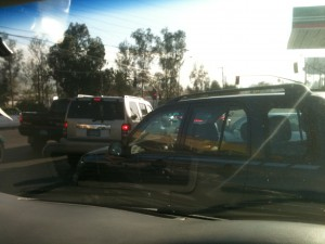 Tijuana traffic doesn't even all go the same way sometimes.