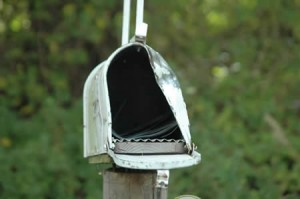 Being a writer requires a mailbox that can take a punch.
